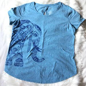 St John's Bay Active Elephant Peephole T-Shirt, LP